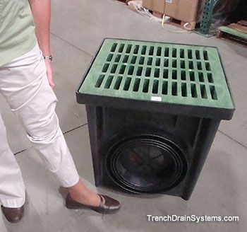 Nds 24 Inch Catch Basin Drainage Solutions Trench Drain Systems Basin