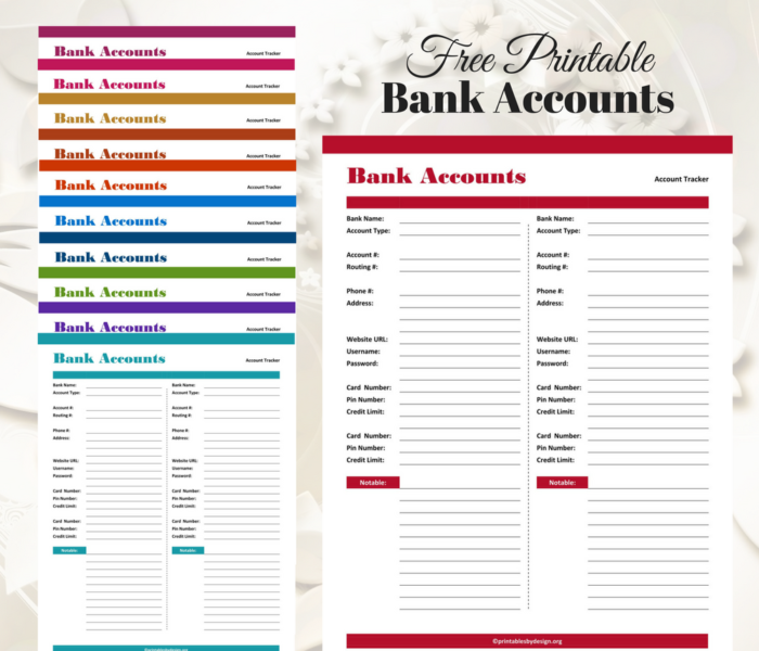 Bank Account Tracker Free banking, Happy planner