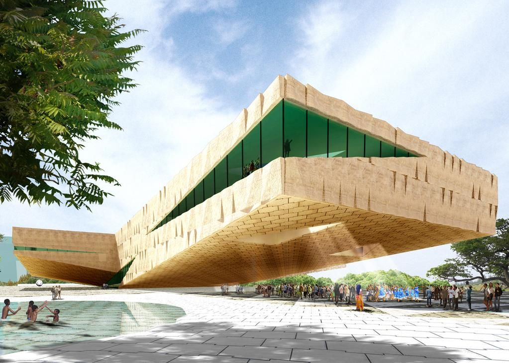 Extreme cantilevers to be created for arts centre in Rwanda's capital: http://www.dezeen.com/?p=778182 #architecture