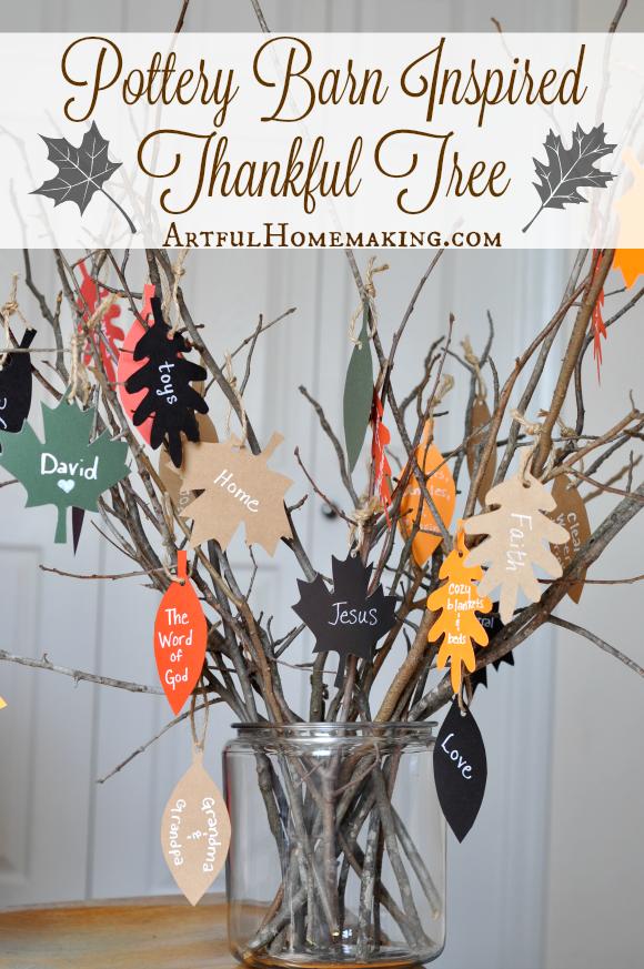Pottery Barn Inspired Thankful Tree