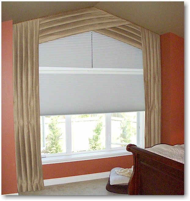 Angle Top Window Treatment With