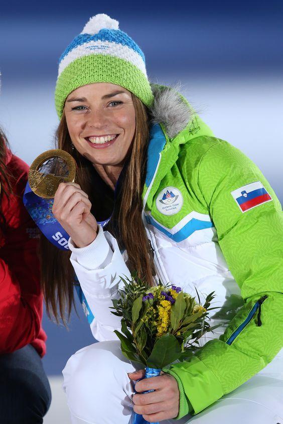Tina Maze, Women`s Downhill  Gold medal for Slovenia <3 #Sochi2014  (photo: Aleš Fevžer):