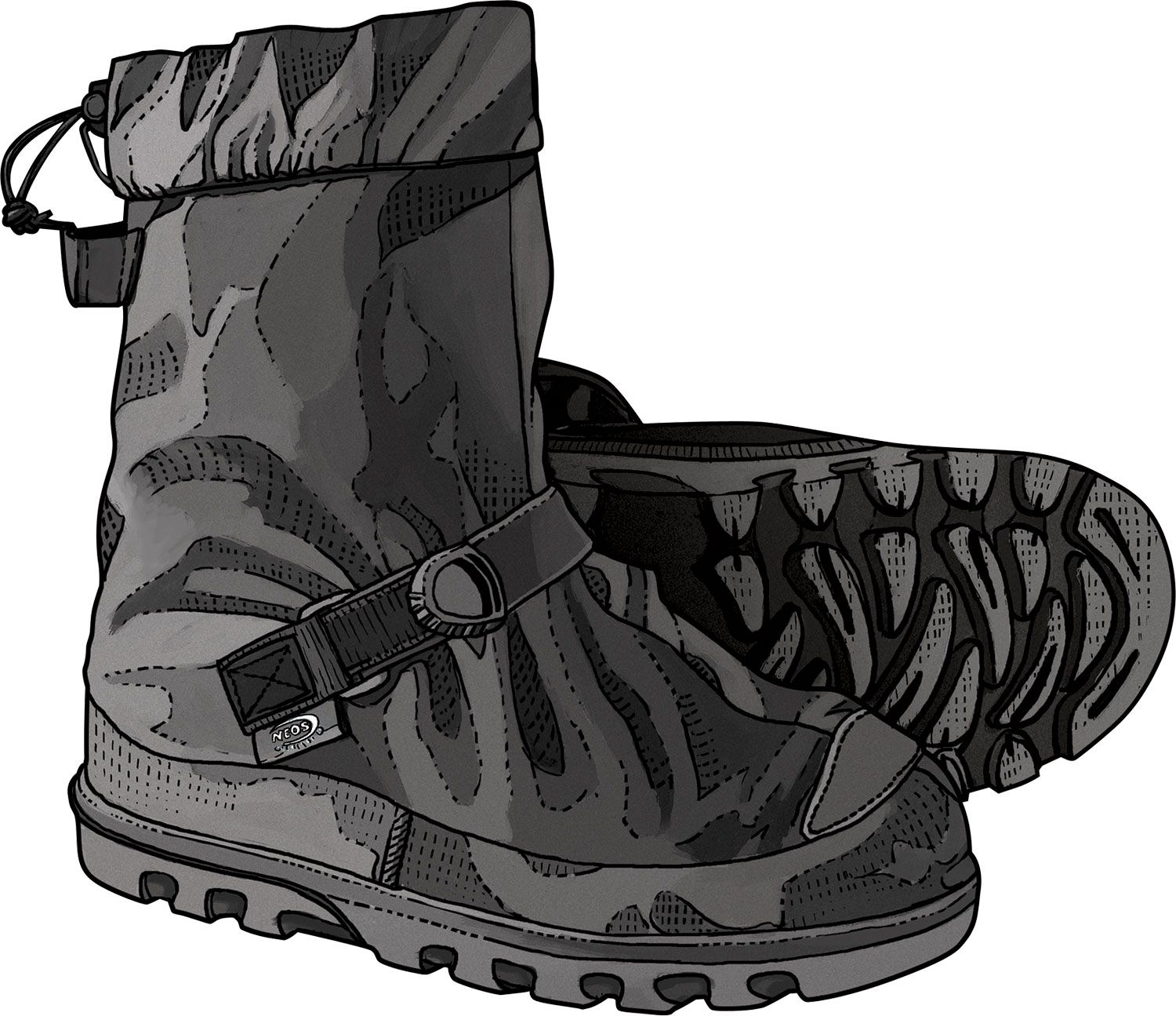 55e79095 Neos OverShoes from Duluth Trading Company pull on easily over work boots,  wingtips, you name it, for protection and sure-footed traction in winter.