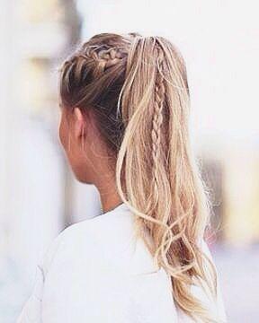 Peinados con trenza cocida facil