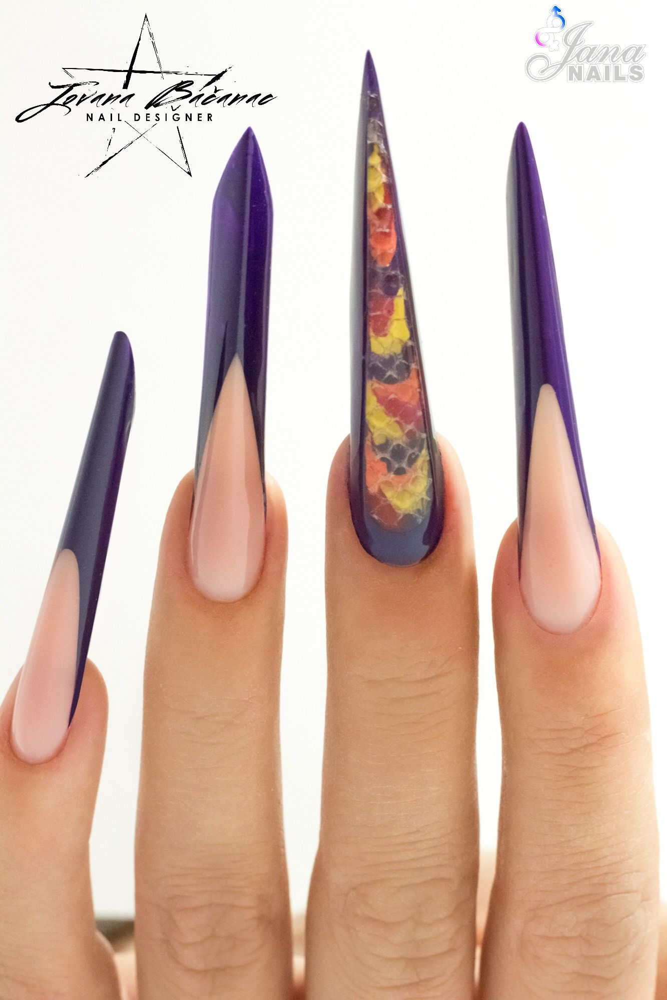 Few extreme nail shapes 💅🏻 Nail shapes, Nail art designs