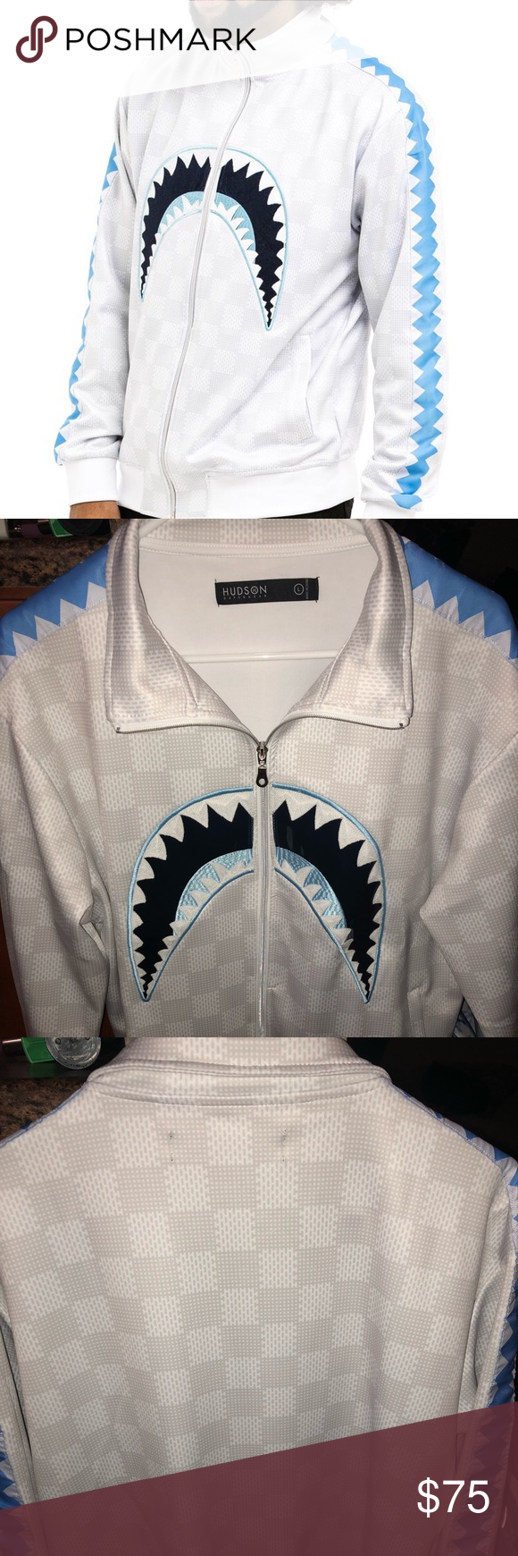 Hudson Outerwear Stretchy Shark Jacket Nwt Urban Outfits Outerwear Stretchy [ 1740 x 580 Pixel ]