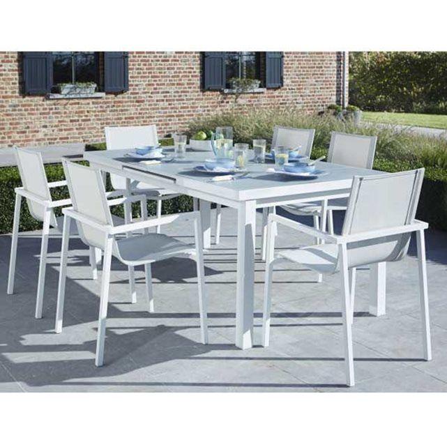 LEKINGSTORE - Ensemble table et chaises de jardin extensibles en ...