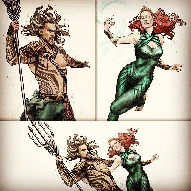 Aquaman Jason Momoa Mera Aquaman S Wifey Amber Heard: Jason Momoa Aquaman & Amber Heard Mera Fanart