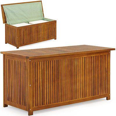 Auflagenbox Holz Holztruhe Kissenbox Gartentruhe Gartenbox Kissentruhe Truhe Ebay Auflagenbox Holztruhe Auflagenbox Holz