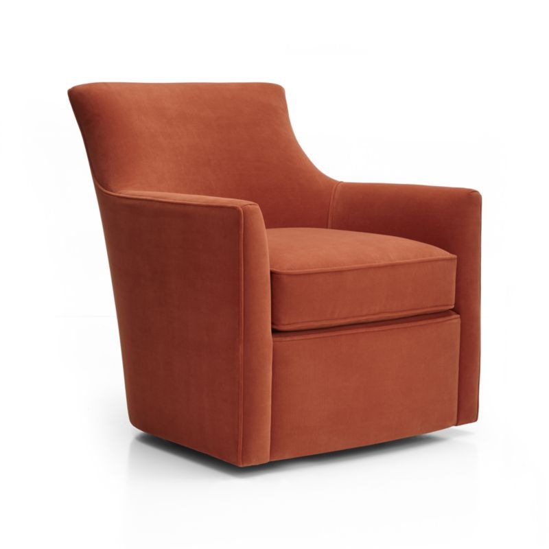 Clara Swivel Chair Crate And Barrel Living Rooms