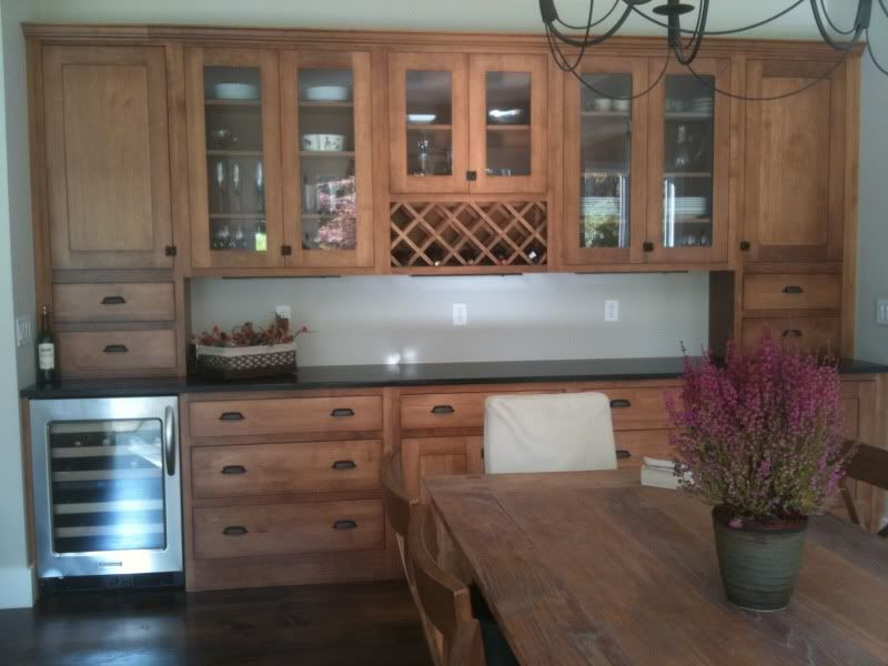 Built in with wine fridge like this i wonder if i could get a wine fridge with a cabinet - Dining room built ins ...