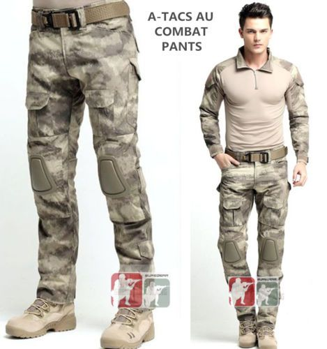 A-TACS-AU-Gen3-G3-Combat-PANTS-Military-Army-Tactical-BDU-Uniform-w-Knee-Pads 48b6630a95f