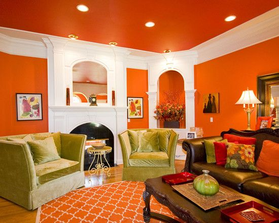 Burnt Orange Couch Design, Pictures, Remodel, Decor and Ideas - page 5