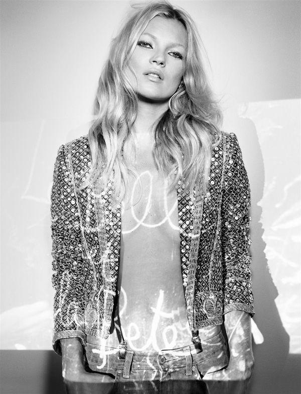 Kate Moss. Vogue Paris. December 2005.