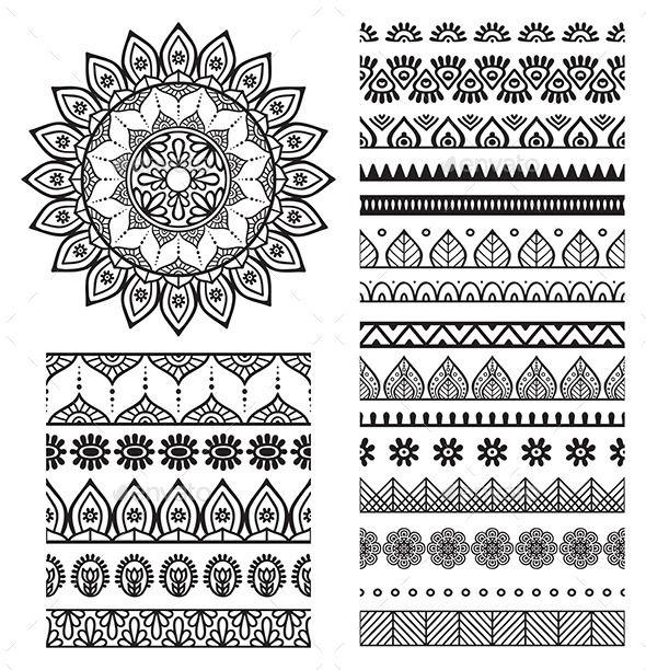 Mandala Ornament And Borders Mandalas Dibujo Y Dibujar - Mandalas-indios