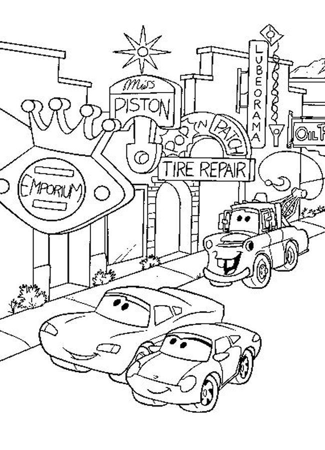 Disney Cars Printable Coloring Pages : disney, printable, coloring, pages, Coloring, Pictures, Disney, Characters, Truck, Pages,, Books,, Cartoon, Pages