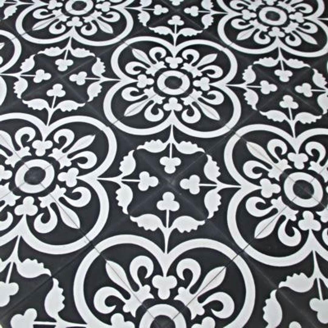 Black White Encaustic Tile Design Home