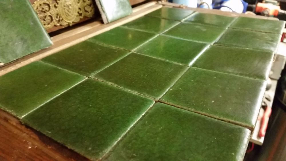 17 Antique Grueby Green Tile Fireplace Surround Arts And Crafts Lot 1 Fireplace Tile Surround Fireplace Tile Green Tile