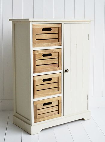 Providence Storage Cabinet With Drawers And Cupboard In Oof White
