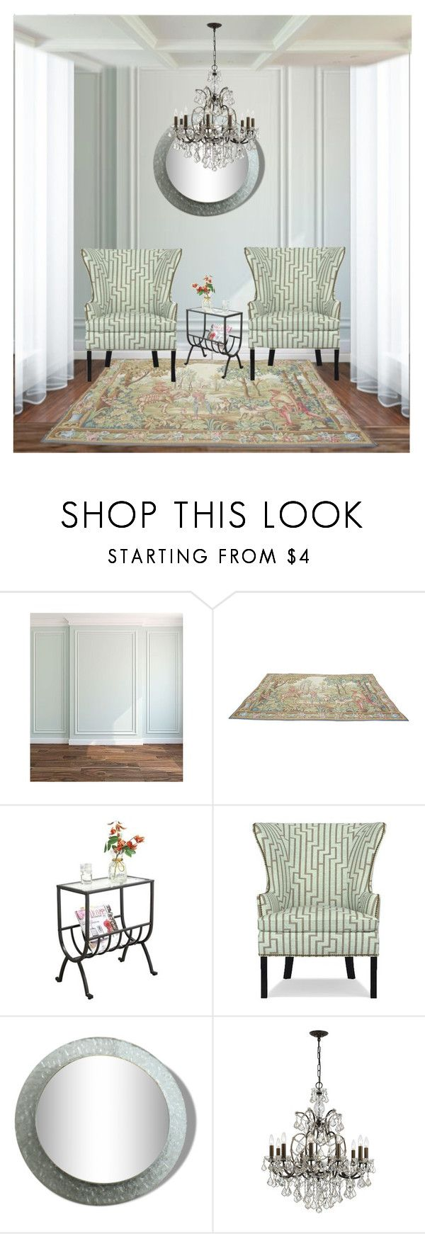 """""""The Wingback"""" by fowlerteetee ❤ liked on Polyvore featuring interior, interiors, interior design, home, home decor, interior decorating, Monarch, Williams-Sonoma, Swarovski and changeitup"""