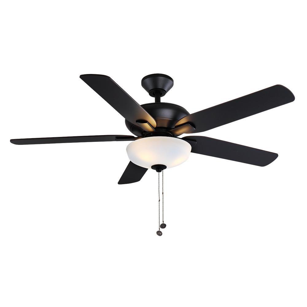 Hampton Bay Holly Springs 52 In Led Matte Black Ceiling Fan 57264