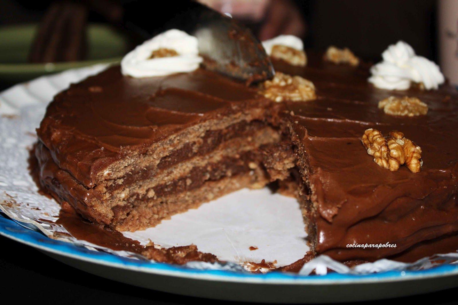 Cocina Para Pobres Tarta De Chocolates Y Nueces Para Mama Tartas