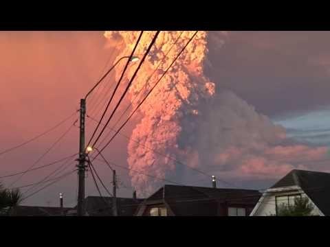 Volcán Calbuco, erupción.
