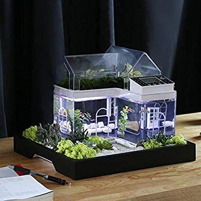 Etonnant Acrylic Mini Micro Landscape Aquarium Office Desk Small Personal Ecology  Multifunctional Living Room Creative Aquarium USB