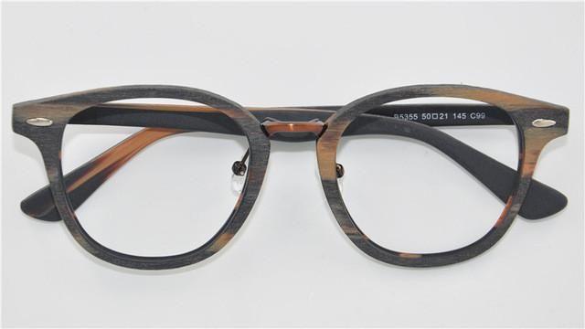 Viewnice 2017 New arrival Rivet Wood glasses Frame Female Retro Style Clear lens glasses Handmade Myopia frame Computer goggles