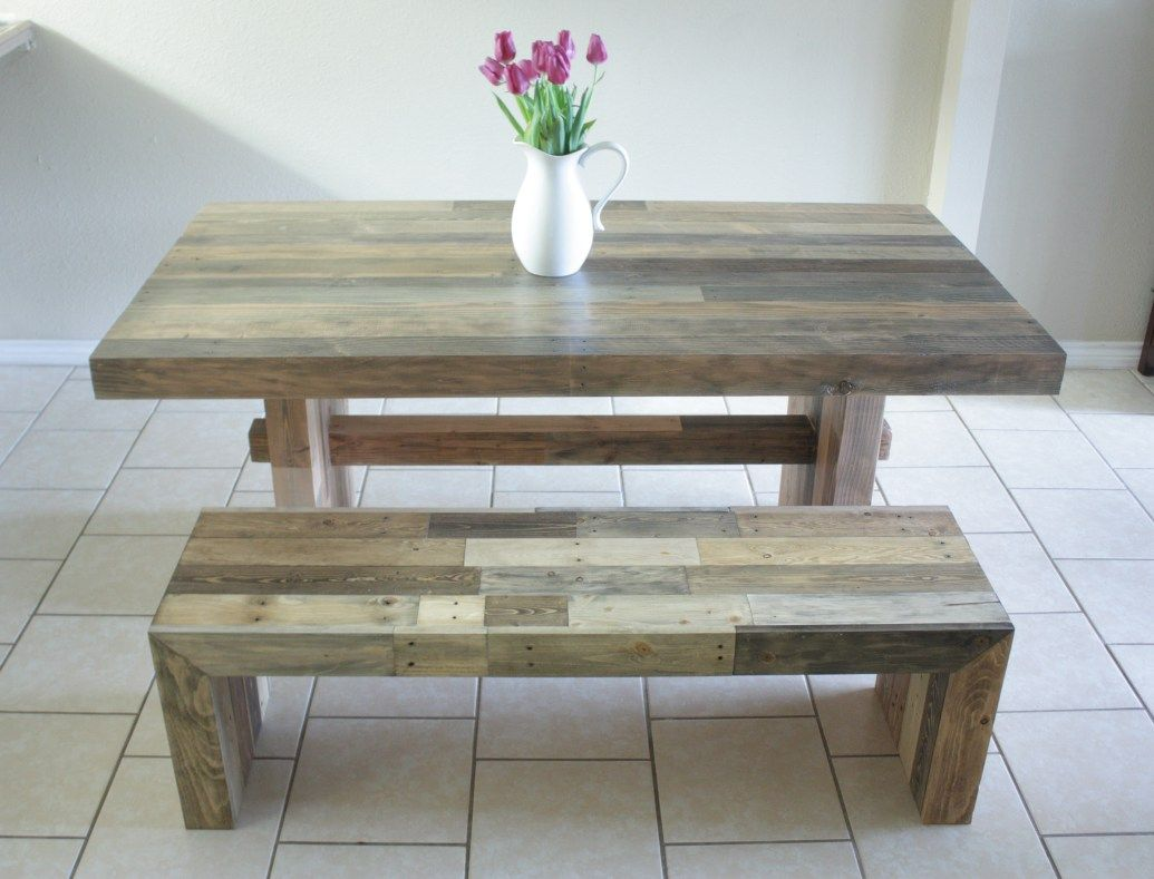 Knockoff West Elm Emmerson Dining Table and Bench Build It Craft