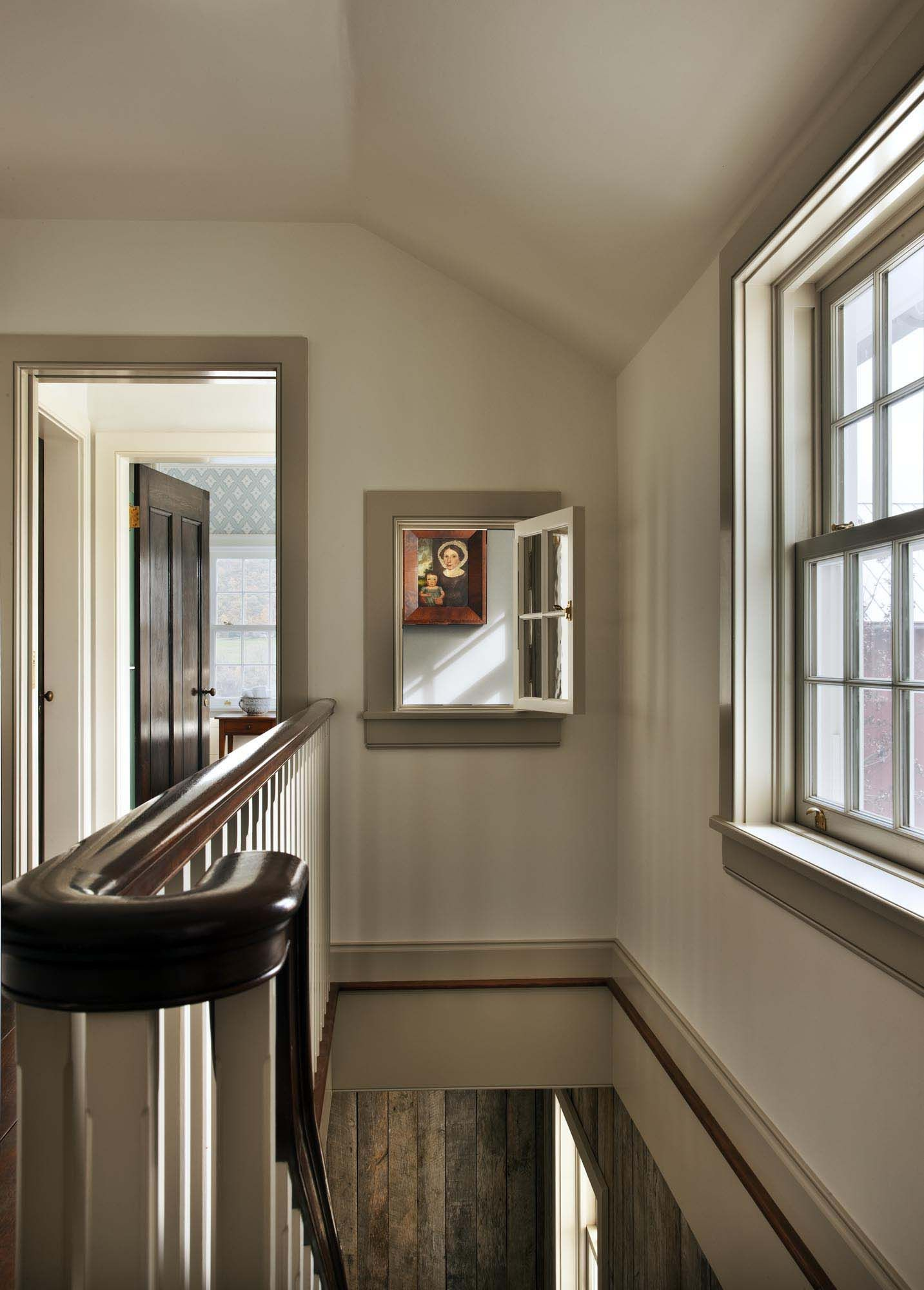 Secondary stairhall  new farmhouse in columbia county york john  murray architect interior design by sam blount photography durston also rh pinterest