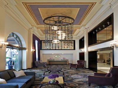 Lobby Inside The Latham Hotel In Philadelphia Pa