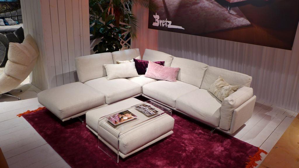 BRETZ KAUAI sectional sofa in new light 3D cotton upholstery ...