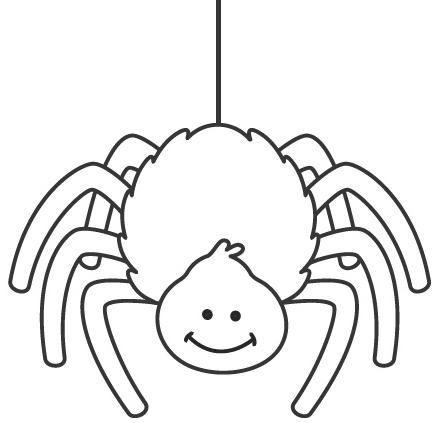 Resultado De Imagen Para Araña Para Colorear Animalitos