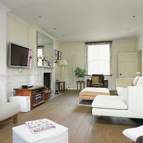 contemporary neutral living room | for the home | living room decor
