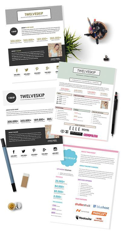 Looking For A Good Blog Design Template? This Media Kit Template Is Perfect  For Bloggers