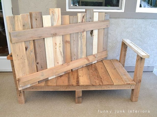 My 'Canadian award winning' pallet board sofa... really