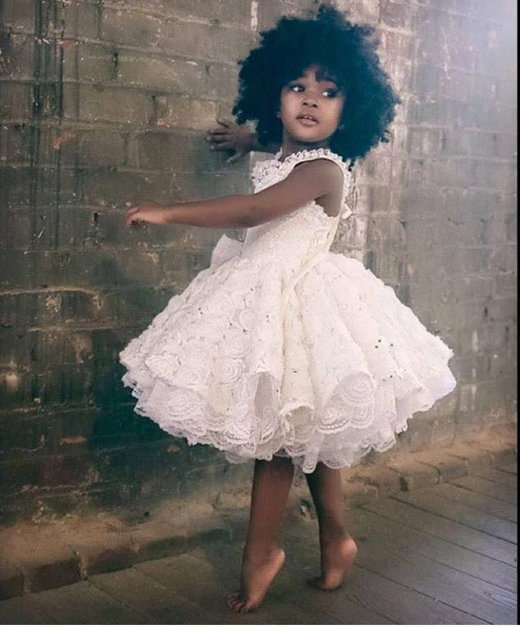 07cd42f9a Natural Hair Style Pictures | Baby Hair | Flower girl dresses, Kids ...
