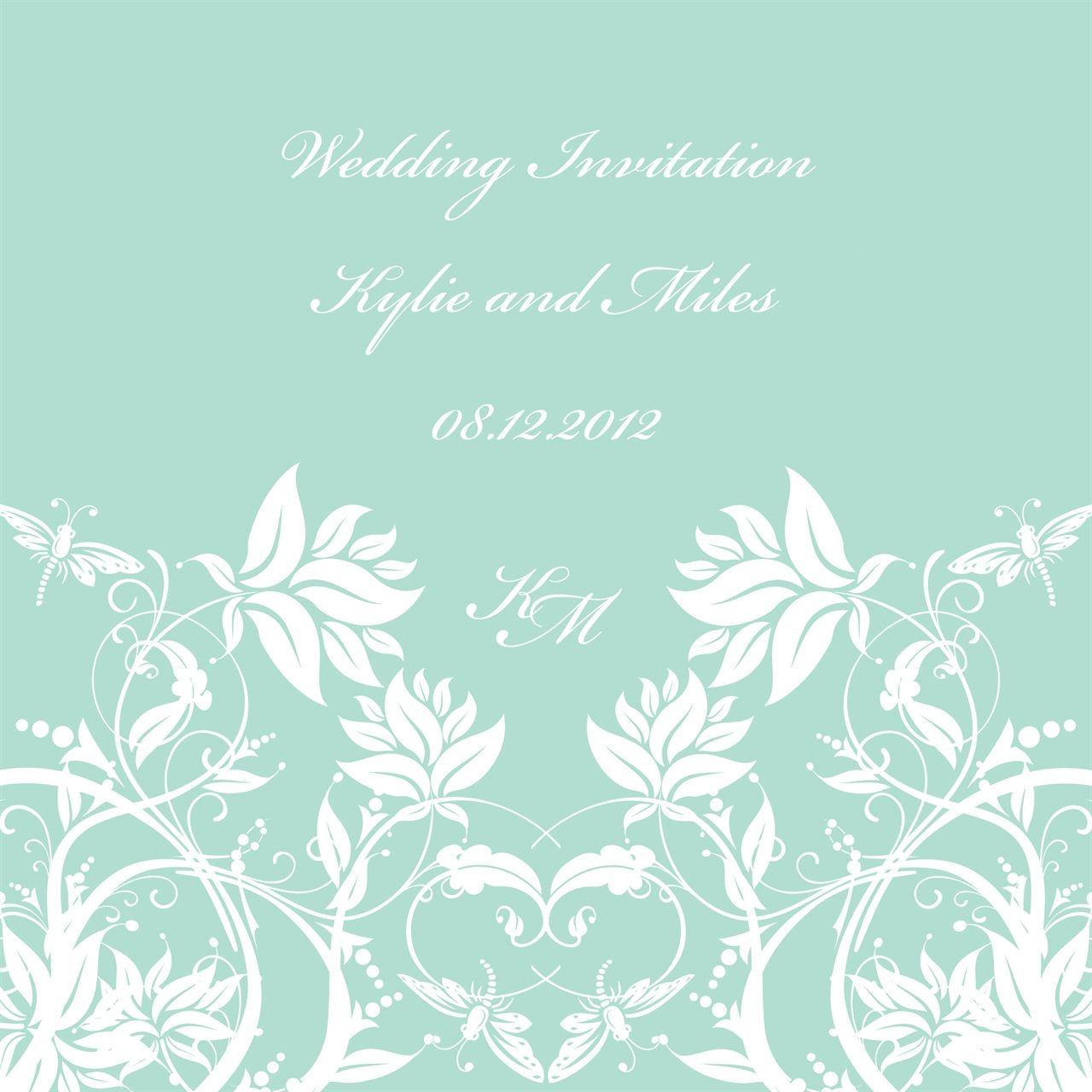 Mint Modern Wedding Invitation By Ananya Weddinginvitation Mint