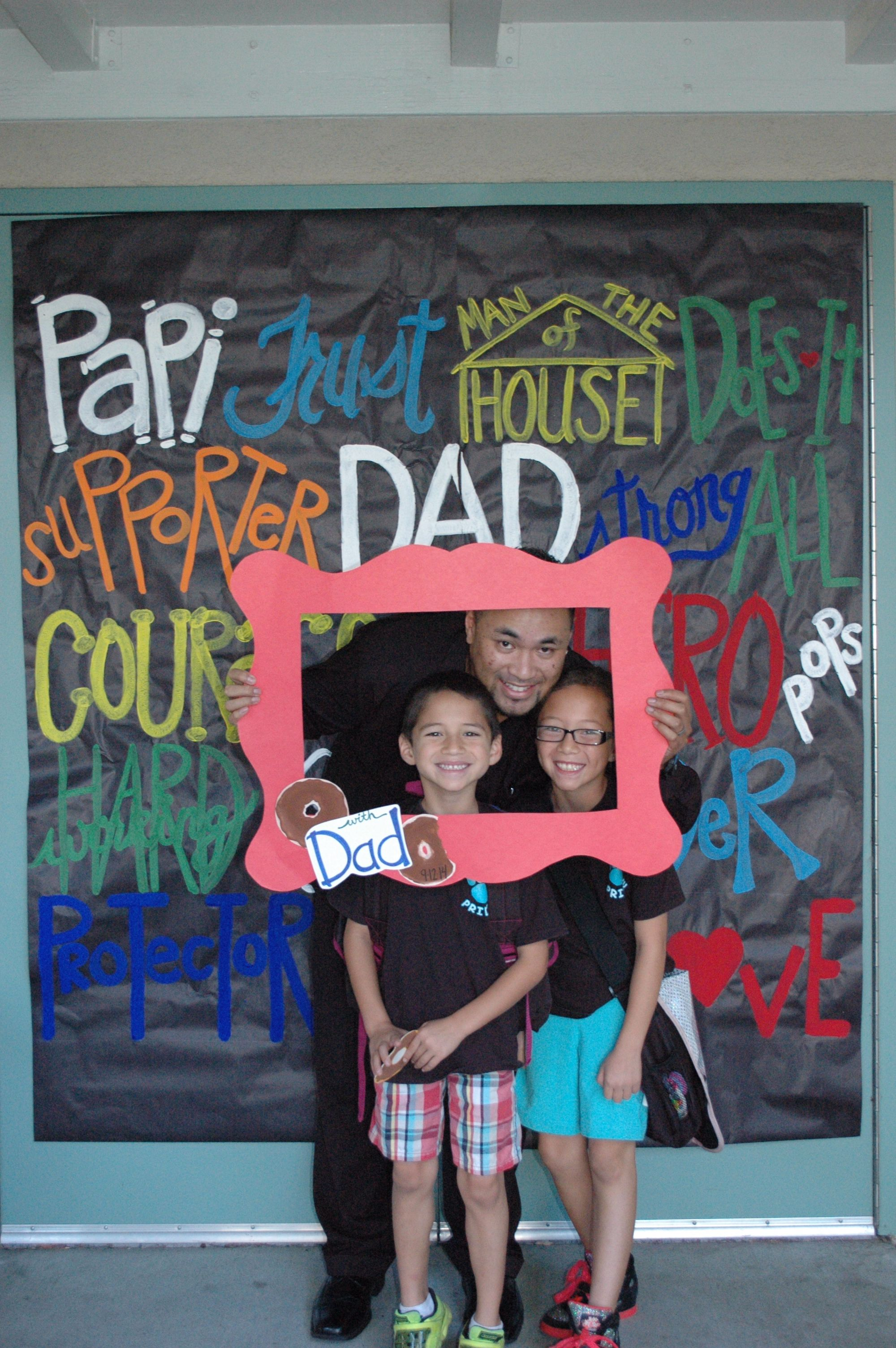 Donuts With Dads Photo Op With Frame Love This Dad