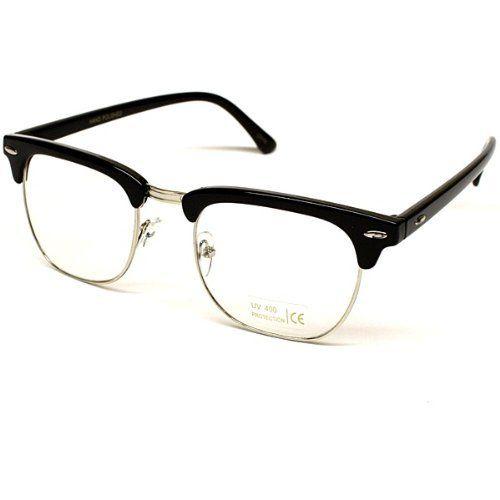 227a45372a Wayfarer Retro Clear Lens Eyeglasses Sunglasses (Zoe Cl Black   Silver