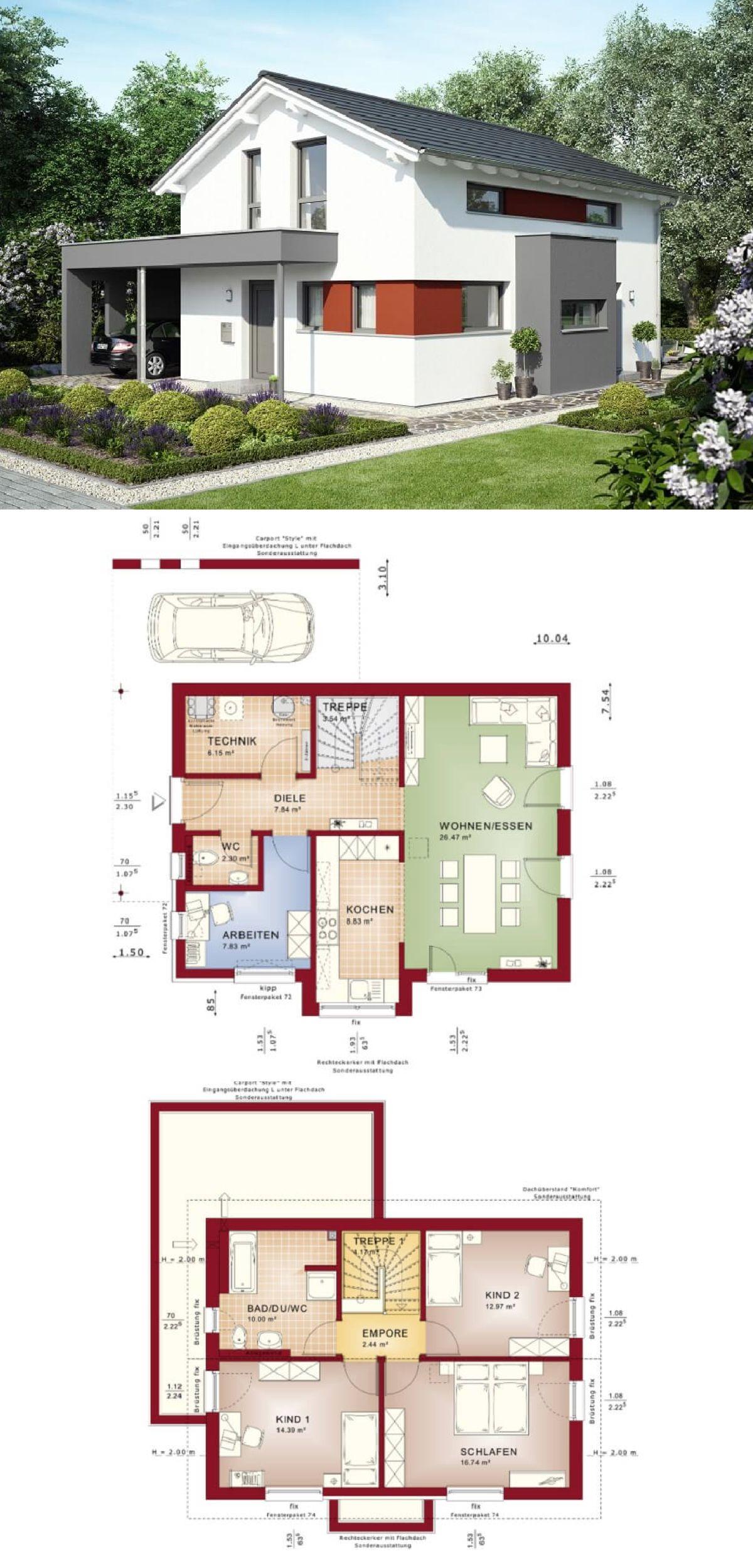 Astounding Satteldach Modern Referenz Von Architektur Mit - Edition 2 V2 Bien