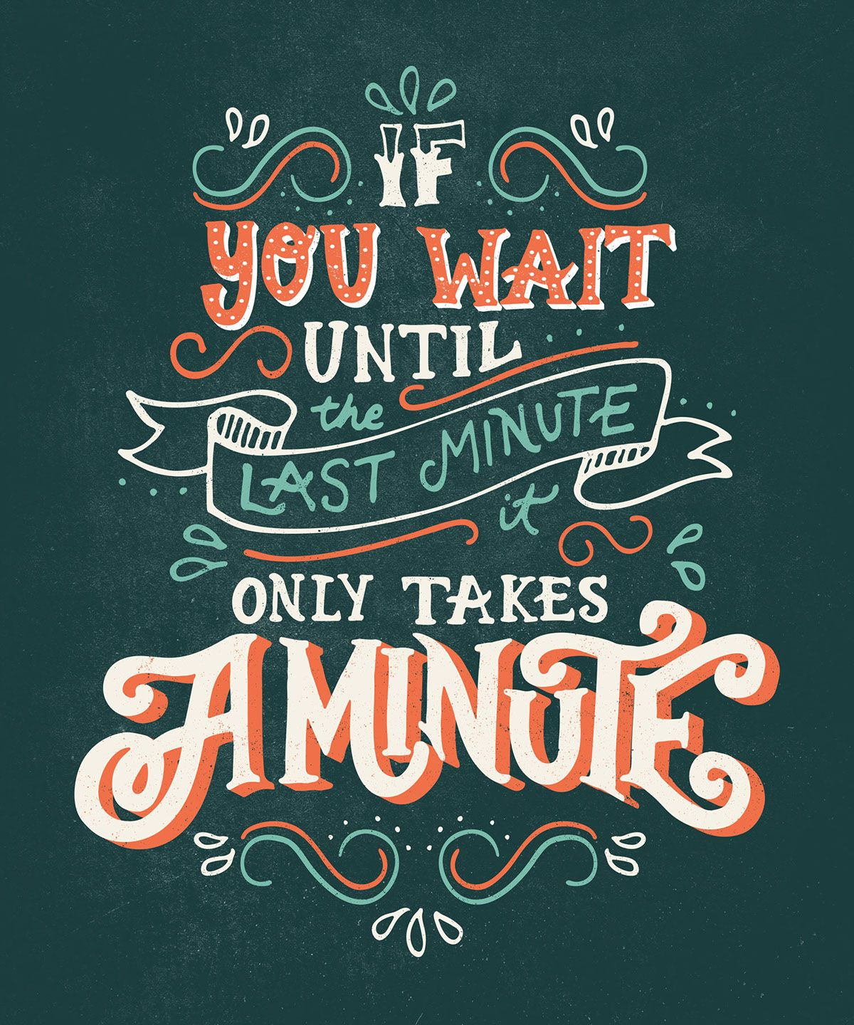 Poster design behance -  Last Minute Hand Lettered Poster Design On Behance
