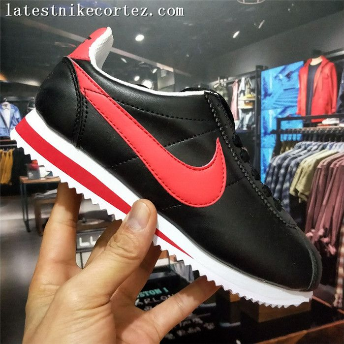 new arrival 91cb2 624d8 2018 On Sale Nike Classic Cortez Womens Sports Shoes Black Red White