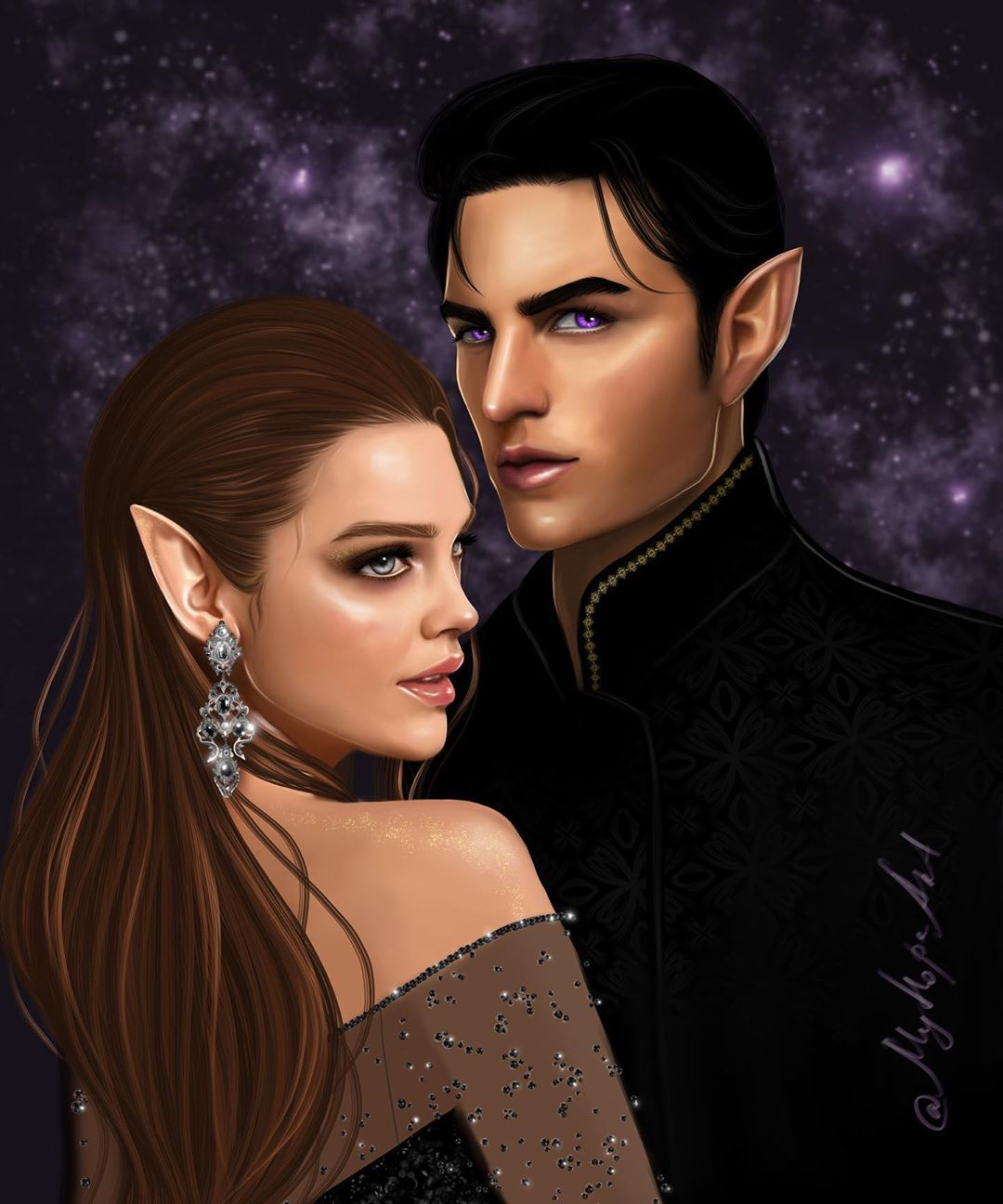 Nadia On Instagram Feyre And Rhysand From A Court Of Thorns And