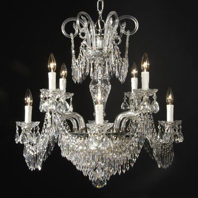 Weinstock 1800 8 2h 10 Light Crystal Chandelier 28w 28h Crystal Chandelier Chandelier Simple Chandelier