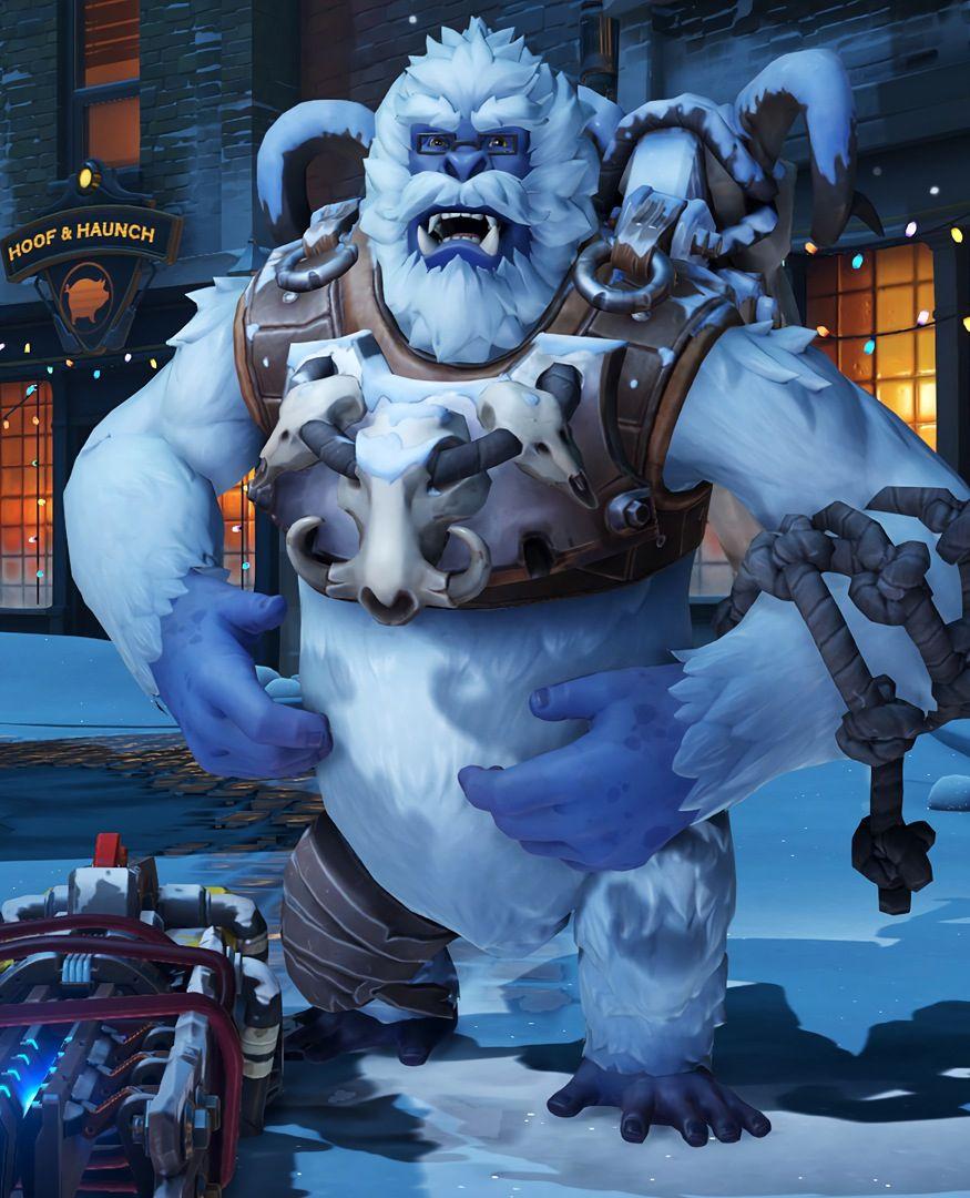 Winston Christmas Skin.Yeti Winston Winter Wonderland Overwatch Skin 1920x1080