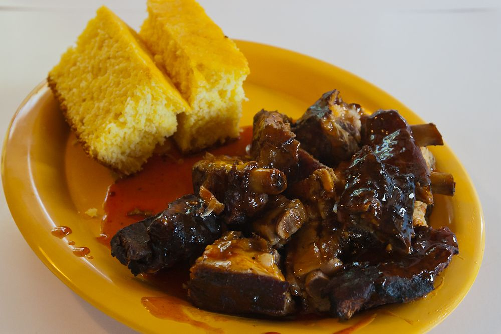 The best bbq ribs restaurant Smokin Jack's Rib Shack presents its Rib Tip Dinner -  An In-house smoked Rib and is slathered in own sauce. #ribtip #rib #ribs #BBQ