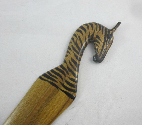 Letter Opener  Zebra Letter Opener  Wood Letter Opener  Animal