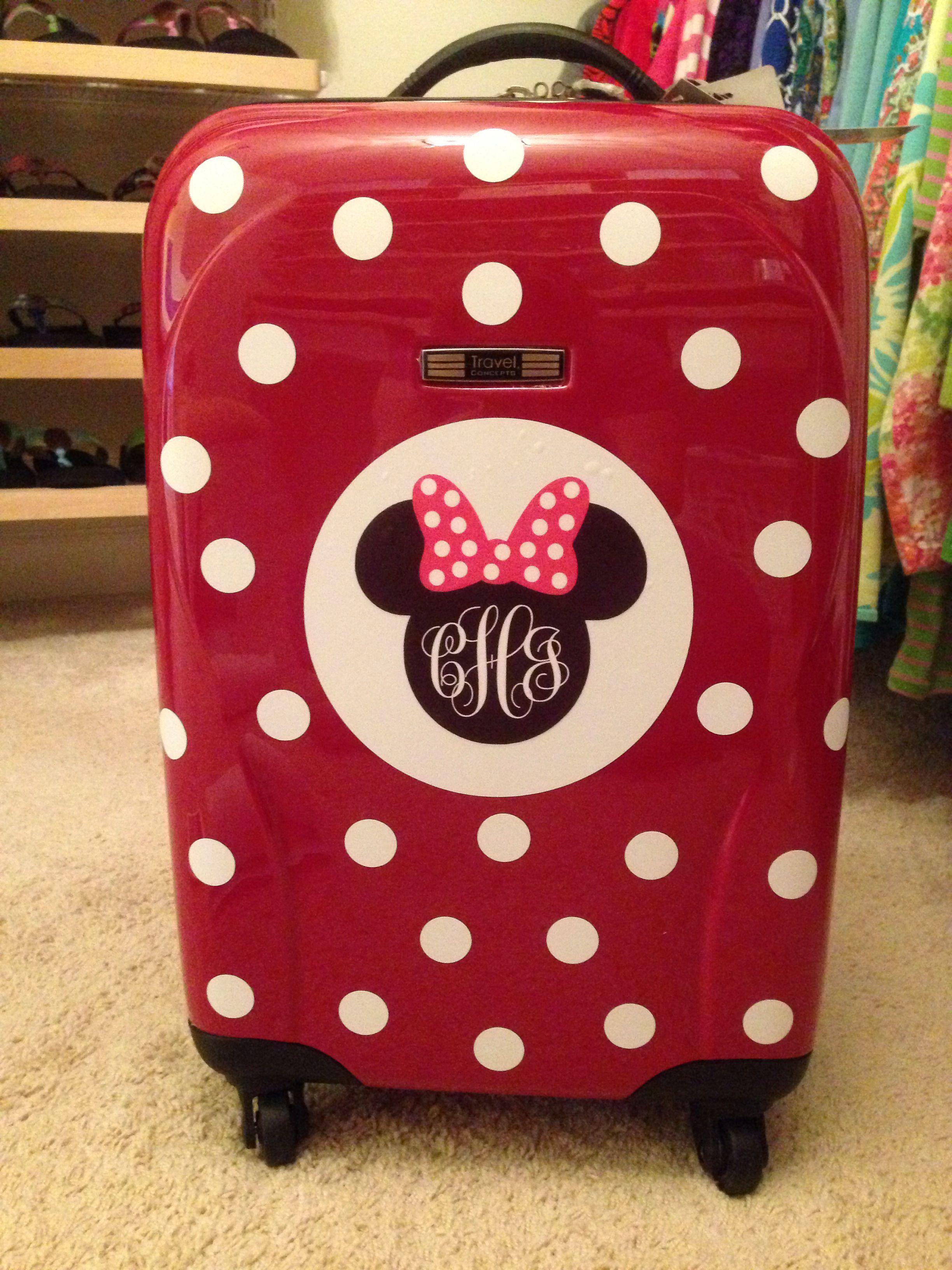 c82a3ddf3530 DIY - Disney Suitcase! Minnie Mouse monogram | Carson - MISC ...